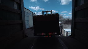 The cargo loading stock footage
