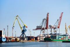 Cargo loading in port Stock Photo