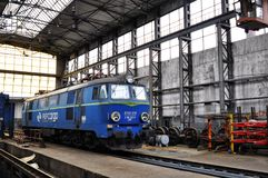 Cargo locomotive Stock Photos