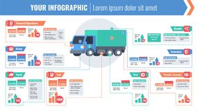Cargo logistic horizontal infographic Stock Photo