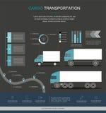 Cargo Logistics service infographic design vector illustration