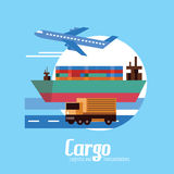Cargo, Logistics and transportation. Royalty Free Stock Photography