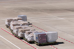 Cargo luggage on the airport place Royalty Free Stock Image