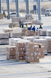 Cargo made in china at the airport Stock Photos