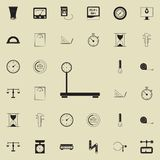 Cargo mechanical scales icon. Detailed set of Measuring Elements icons. Premium quality graphic design sign. One of the collection. Icons for websites, web Stock Image