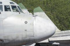 Cargo military airplane head Royalty Free Stock Photo