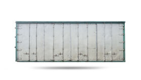 Cargo. Old cargo container isolated on white background Stock Photos