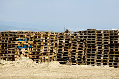 Cargo pallet Royalty Free Stock Images