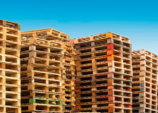 Cargo pallets Royalty Free Stock Photo