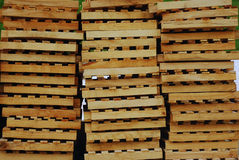Cargo pallets Royalty Free Stock Images