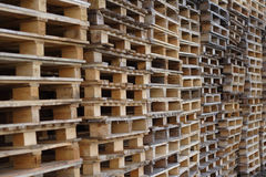Cargo pallets Royalty Free Stock Photography