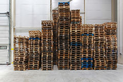 Cargo pallets Royalty Free Stock Photos