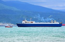 Cargo-passenger ferries Stock Image