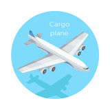 Cargo Plane Isolated. Freight Aircraft, Freighter. Airlifter, cargo jet. Fixed-wing aircraft designed or converted for carriage cargo. Airplane delivering Royalty Free Stock Photos