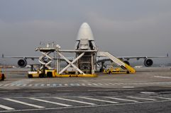 Cargo plane loading Royalty Free Stock Photography