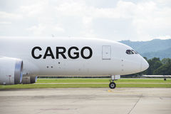 Cargo plane on the runway Royalty Free Stock Photos