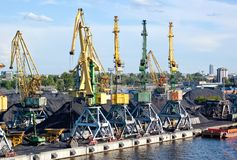 Cargo port Royalty Free Stock Photography