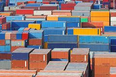 Cargo port Royalty Free Stock Photos