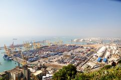 Cargo Port in Barcelona Royalty Free Stock Photography