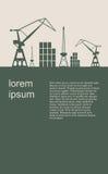 Cargo port. Brochure design template. Stock Images