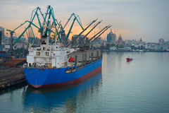 Cargo port, Georgia Royalty Free Stock Photography