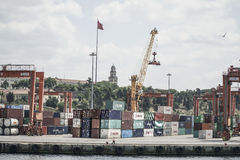 Cargo Port of Istanbul in Turkey. Royalty Free Stock Image