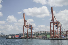 Cargo Port of Istanbul in Turkey. Stock Photo
