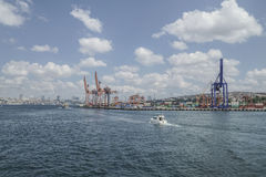 Cargo Port of Istanbul in Turkey. Stock Photos