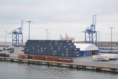 Cargo Port near Helsinki Stock Image