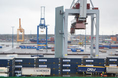 Cargo Port near Helsinki Stock Images