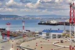 Cargo the port of Novorossiysk Stock Photography