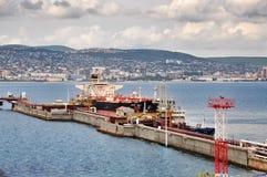 Cargo the port of Novorossiysk Royalty Free Stock Image