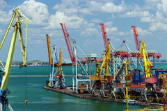 Cargo port in Odessa Royalty Free Stock Photography