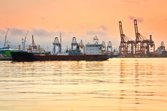 Cargo port Piraeus, Athens. Stock Photo