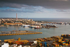 Cargo port Piraeus, Athens. Stock Images