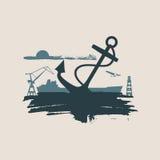 Cargo port relative icons set. Stock Image