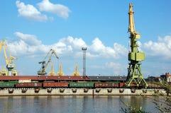 Cargo port. In St.-Petersburg, Russia Stock Photo