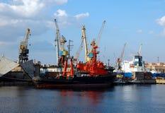 Cargo port. In St.-Petersburg, Russia Stock Image