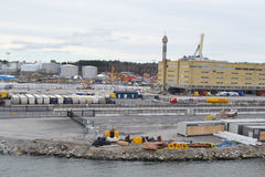 Cargo port in Stockholm. Royalty Free Stock Image