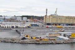 Cargo port in Stockholm. Stock Image