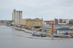 Cargo port in Stockholm. Stock Photo