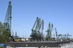 Cargo port  Varna with cranes , Bulgaria Stock Images