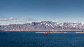 Cargo près de reykjavik Photos stock