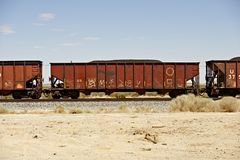 Cargo Railroad Cars Stock Image