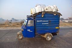 Cargo rickshaw on the Highway Stock Image