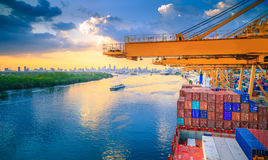 Cargo River Side Royalty Free Stock Photography