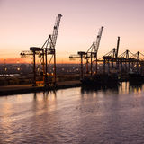 Cargo sea port, Casablanca, Marocco Royalty Free Stock Photography