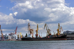 Cargo sea port Royalty Free Stock Image