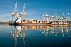 Cargo sea port. Sea cargo cranes. Sea. Royalty Free Stock Image