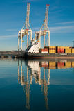 Cargo sea port. Sea cargo cranes. Sea. Stock Photo